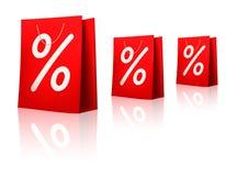 Verkaufseinkaufenbeutel. Konzept des Diskonts. Vektor Stockfotos