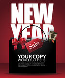 Verkaufseinkaufstasche- und -affehintergrund des Chinesischen Neujahrsfests Stockfoto