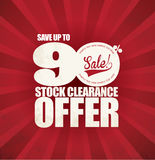 Verkaufsförderungs-Plakat Stockfotos
