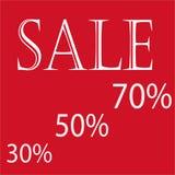 Verkaufsfahne 30%, 50%, 70% lizenzfreie stockfotos