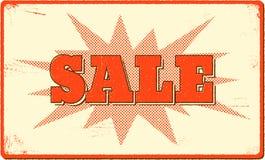 Verkaufsfahne mit Halbtonknallform Lizenzfreies Stockfoto