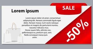 Verkaufsfahne mit Platz für Ihren Text. Vektor Stockfotos