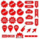 Verkaufsfahne und -elemente Vektor Abbildung