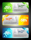 Verkaufsfahnen Lizenzfreies Stockbild