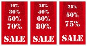 Verkaufsfahnen Stockfotografie
