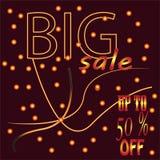 Verkaufsfahnen-Schablonenentwurf, großer Verkauf spezielles bis 50% weg Auch im corel abgehobenen Betrag lizenzfreie abbildung