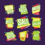Verkaufsfahnen-Vektorsatz Lizenzfreies Stockfoto