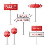 Verkaufsfahnenansammlung Stockbilder
