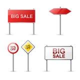 Verkaufsfahnenansammlung Lizenzfreies Stockfoto