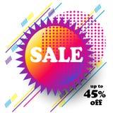 Verkaufsfahnenfestivalreise-Zusammenfassungszeichen Stockfotos