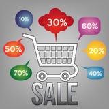 Verkaufsfahnenschablone Vektorillustration Stockbild