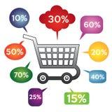 Verkaufsfahnenschablone Vektorillustration Lizenzfreie Stockfotos