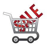 Verkaufsfahnenschablone Vektorillustration Stockfotografie