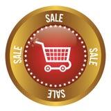 Verkaufsfahnenschablone Vektorillustration Stockfoto