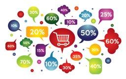 Verkaufsfahnenschablone Vektorillustration Lizenzfreies Stockfoto