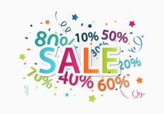 Verkaufsfeier mit Prozentrabatt Stockbild