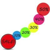 Verkaufshintergrund Stock Abbildung