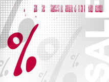 Verkaufshintergrund - Prozentzeichen Stockfotografie