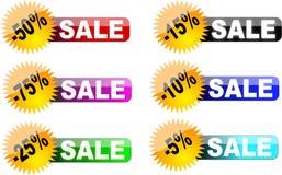 Verkaufskennsätze (Abzeichen) Stockbilder