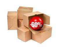 Verkaufskonzept -60% Lizenzfreies Stockbild