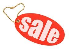 Verkaufsmarke auf Weiß Lizenzfreie Stockbilder