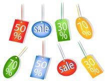 Verkaufsmarken Lizenzfreie Stockbilder