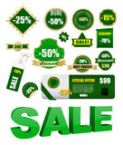 Verkaufsmarken Lizenzfreies Stockfoto
