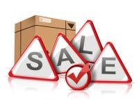 Verkaufsmeldung stockbild