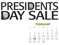 Verkaufsplakat Präsidenten Day Lizenzfreies Stockfoto