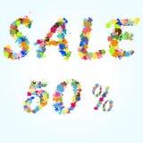 Verkaufsplakat-Spritzenillustration Stockfoto