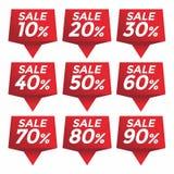 Verkaufsprozent-Preisaufklebertag Lizenzfreie Stockbilder