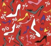 Verkaufsrabatt-Frauenschuhe Stockbild