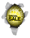 Verkaufsrabattreklameanzeige Lizenzfreie Stockfotos