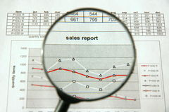 Verkaufsreport lizenzfreie stockfotografie