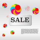 Verkaufsschablone mit bunten Kreisen Lizenzfreie Stockfotos