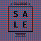 Verkaufsschablonen mit Rabattangebot Lizenzfreie Stockbilder