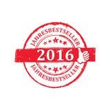 Verkaufsschlager des Textes des Jahr-2016 in der deutschen Sprache Stockfoto