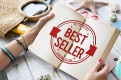 Verkaufsschlager-Zertifikat-Stempel-Konzept Lizenzfreie Stockfotos