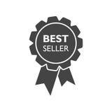 Verkaufsschlagerbandikone Medaillenvektorillustration in der flachen Art Lizenzfreies Stockfoto
