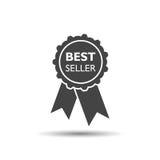Verkaufsschlagerbandikone Medaillenvektorillustration in der flachen Art Lizenzfreie Stockfotografie
