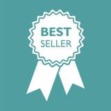 Verkaufsschlagerbandikone Medaillenvektorillustration in der flachen Art Stockfoto