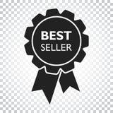 Verkaufsschlagerbandikone Medaillenvektorillustration in der flachen Art Stockbilder