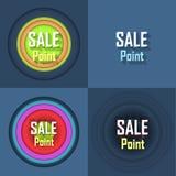 Verkaufsstelle-Knopf-Ikone Stockfoto