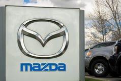 Verkaufsstelle Mazdas Autobile Lizenzfreies Stockfoto