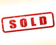 Verkaufsstempel auf weißem Hintergrund Stockbild