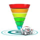 Verkaufstrichter. Marketing-oder Geschäfts-Diagramm Lizenzfreies Stockfoto