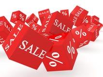 Verkaufswürfel Stockbilder