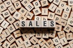 Verkaufswortkonzept lizenzfreies stockfoto