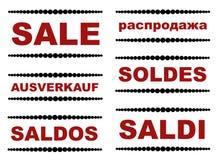 Verkaufszeichen Lizenzfreie Stockfotografie