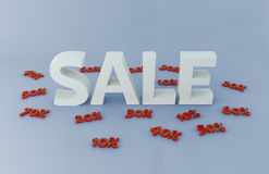 Verkaufszeichen stock abbildung